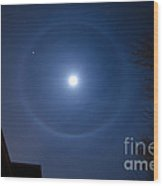 Moonbow Over Chicago 3 Wood Print