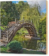 Moonbridge - The Beautifully Renovated Japanese Gardens At The Huntington Library. Wood Print