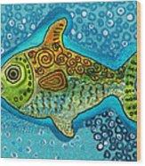 Moonfish Wood Print