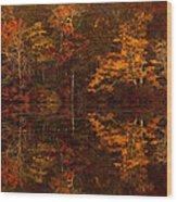 Moonlight Autumn Wood Print