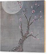 Moonlight Blossoms Gekkoka Wood Print