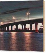 Moonlight Bridge Wood Print