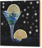 Creative - Moonlight Dark Star Cocktail Lemon Flavoured 1 Wood Print