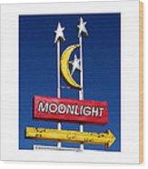 Moonlight Drive In Wood Print