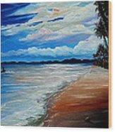 Moonlight In Tobago Wood Print