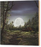 Moonlight  Wood Print by Jamil Alkhoury