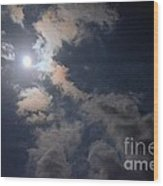 Moonlight Madness Wood Print