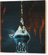 Moonlight Minaret Wood Print