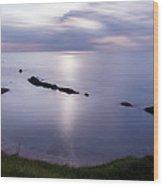 Moonlight Over Man Of War Bay  Wood Print