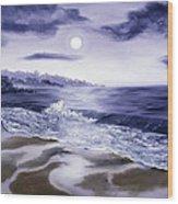 Moonlight Sonata Over Carmel Wood Print