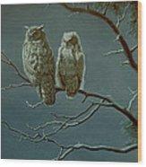Moonlight Watchers Wood Print by Paul Krapf