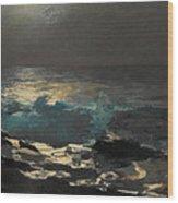 Moonlight. Wood Island Light Wood Print