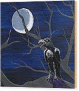 Ravenous Wood Print by Edward Fuller