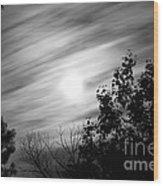 Moonlit Clouds Wood Print