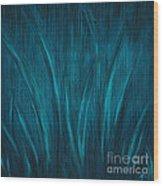 Moonlit Grass Wood Print