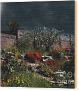 Moonlit Hillside In Africa Wood Print