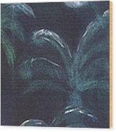 Moonlit Palms Wood Print