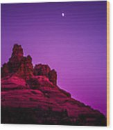 Moonrise Bell  Wood Print