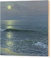 Moonrise Wood Print by Guillermo Gomez y Gil