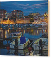 Moonrise In Karlskrona Wood Print