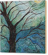 Moonrise In The Wild Night Wood Print