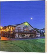 Moonrise On Golfcourse In Salem Ohio Wood Print