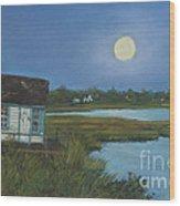 Moonrise Orient Point Wood Print