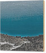 Moonrise Over The Mountain Wood Print