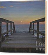 Moonrise V Wood Print