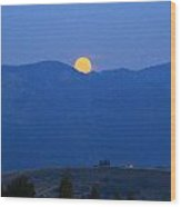 Moonset Wood Print
