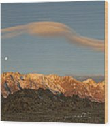 Moonset Over Mt Whitney Img 0637 Wood Print