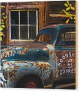 Moonshine Express Wood Print