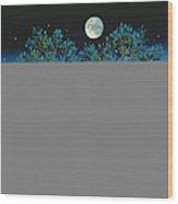 Moonshine Sonata, 2006 Oil On Canvas Wood Print