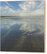 Moonstone Beach Reflections Wood Print
