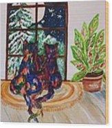 Moonstruck Cats - Winter Wonderland Wood Print
