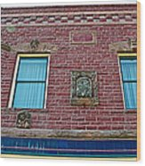 Moore Block-1896 With Gargoyle-like Features In Pipestone-minnesota  Wood Print