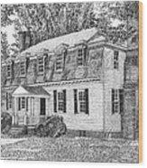 Moore House In Yorktown Virginia Wood Print