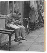 Boys Reading Comics In Moore Street Dublin Wood Print