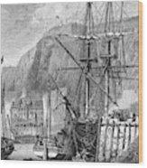 Moored Ships At Fort Regent,  St Wood Print