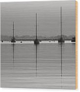 Moored Tranquility Wood Print