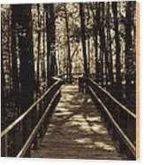 Moores Creek Battlefield  Nc Swam Bridge  Wood Print