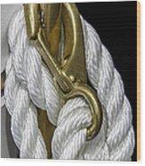 Mooring Rope-nantucket Massachusetts Series 02 Wood Print