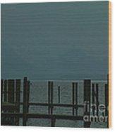 Moorings Derwent Water Cumbria 2002 Wood Print