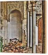 Moorish Chair And Alcove At The Alhambra Wood Print