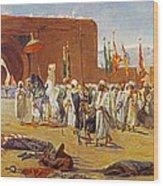 Moorish Procession Wood Print