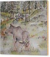 Moose Is Loose Album Wood Print