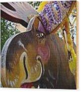 Moose On Parade Wood Print by Dora Miller