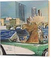 Moose Rapids Or Moose City Drive Wood Print