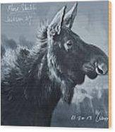 Moose Sketch Wood Print by Aaron Blaise