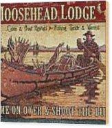 Moosehead Lodge Wood Print by JQ Licensing